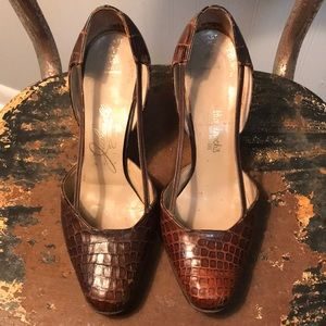 Vintage French Leather Wide Point Toe Size 5.5M